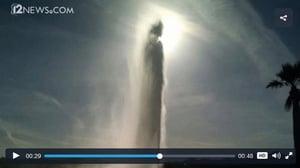 復活節噴泉噴出人形 民眾:耶穌歸來