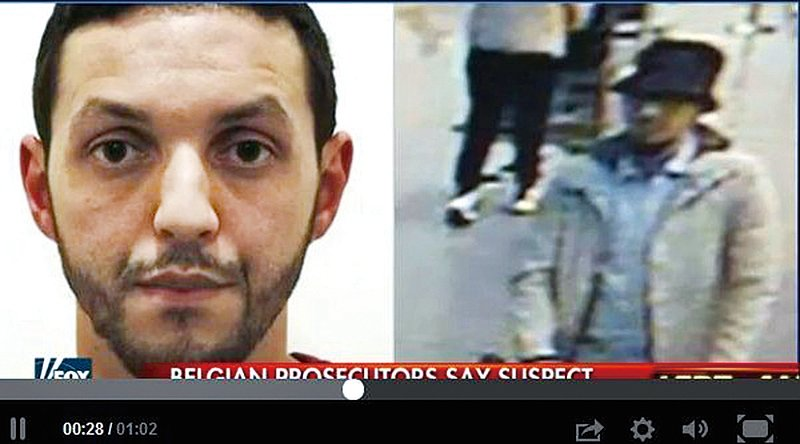 巴黎襲擊案關鍵嫌犯穆罕默德‧阿布瑞尼(Mohamed Abrini)周五(4月8日)在比利時布魯塞爾被捕。(視頻截圖)