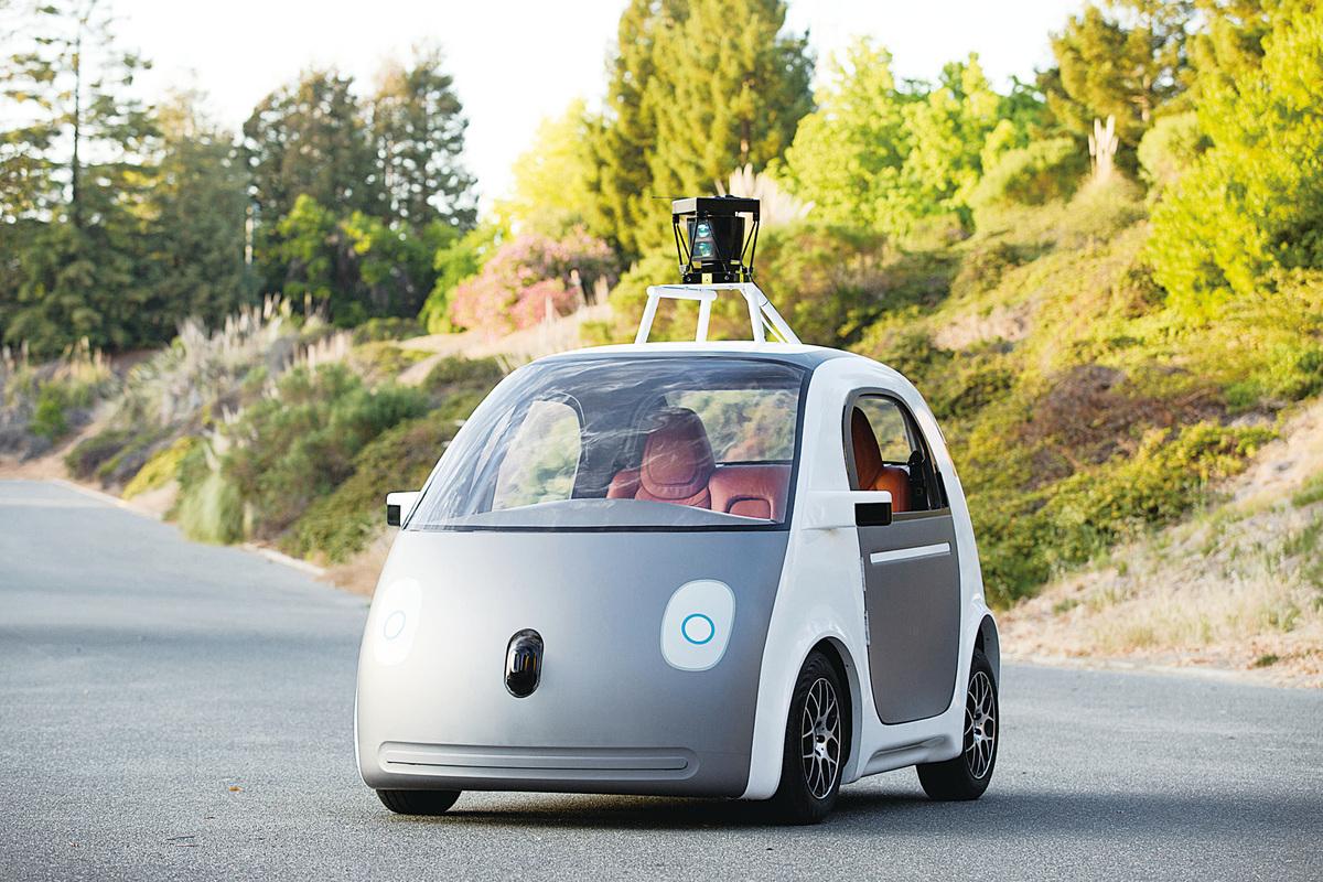谷歌自動駕駛汽車。(網絡圖片)