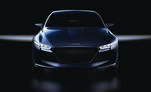 現代首次公佈GENESIS G70中型豪華轎車外觀