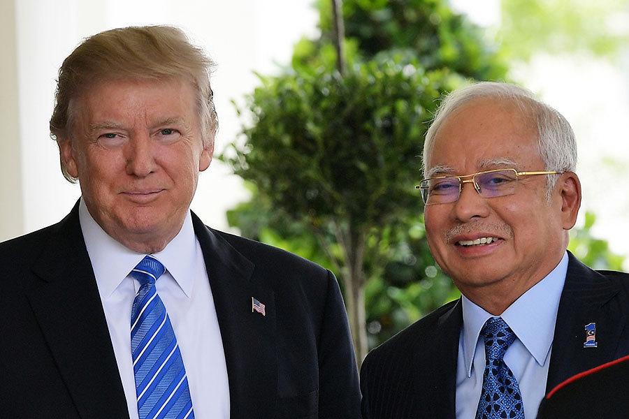 特朗普會見馬來西亞首相 將加強兩國合作