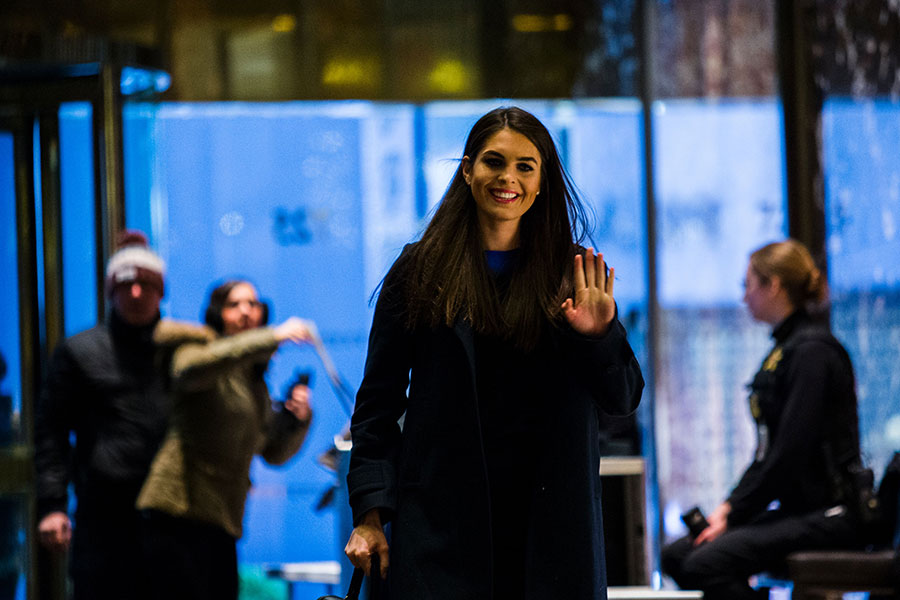 白宮一位官員證實,霍普・希克斯(Hope Hicks)已經正式獲得任命,擔任白宮通訊聯絡辦公室主任。(EDUARDO MUNOZ ALVAREZ/AFP/Getty Images)