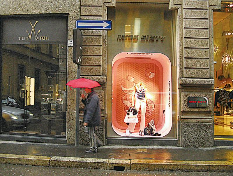 米蘭的蒙特拿破崙大街(Via Montenapoleone)。(維基百科)