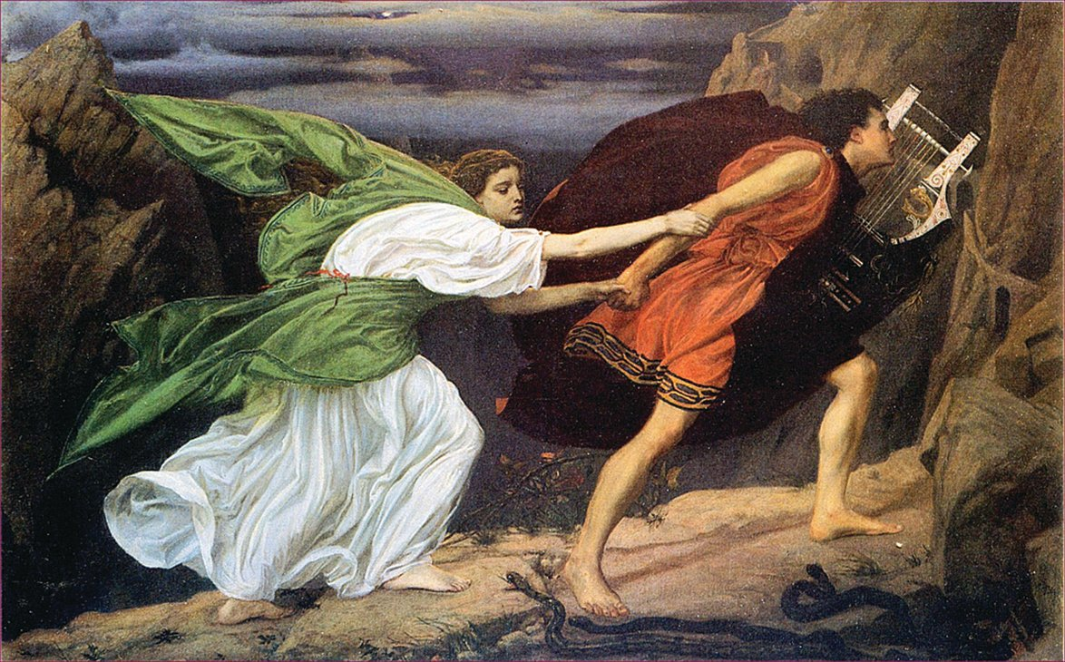 《Orpheus and Eurydice》(俄耳浦斯和優麗迪斯),英國畫家Edward Poynter,1862。(公有領域)