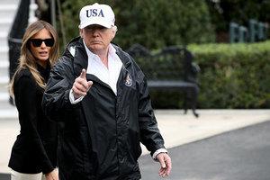 特朗普攜第一夫人抵佛州 讚救災人員了不起