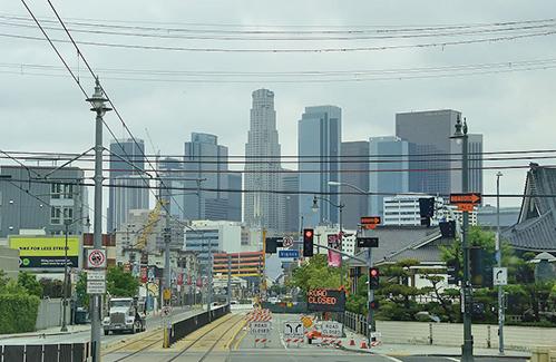 洛杉磯獲得2028年奧運會的主辦權。圖為洛杉磯市中心。(AFP)