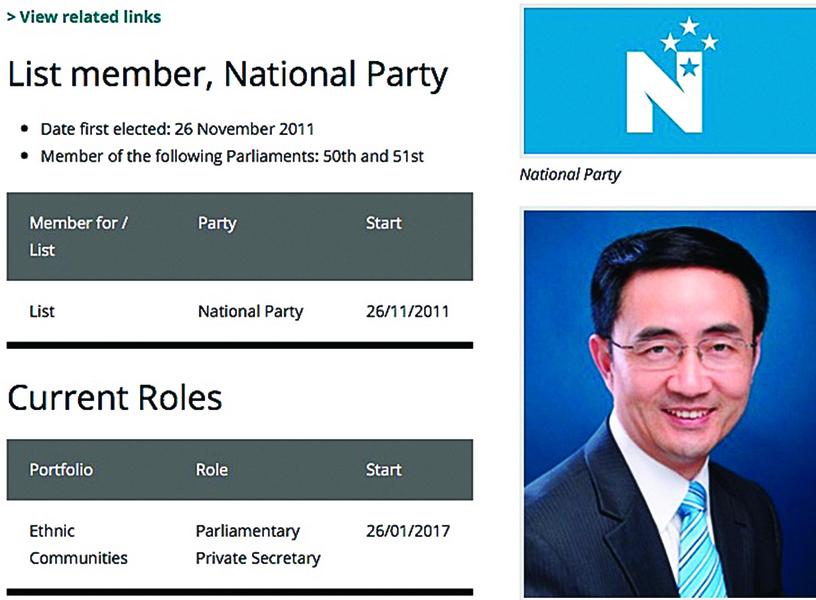 紐西蘭華裔國會議員被查