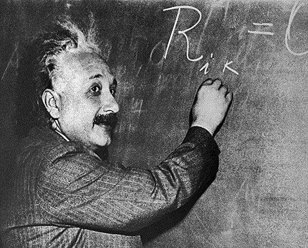 被公認是史上最偉大的科學家愛因斯坦與牛頓都相信神的存在。(AFP)
