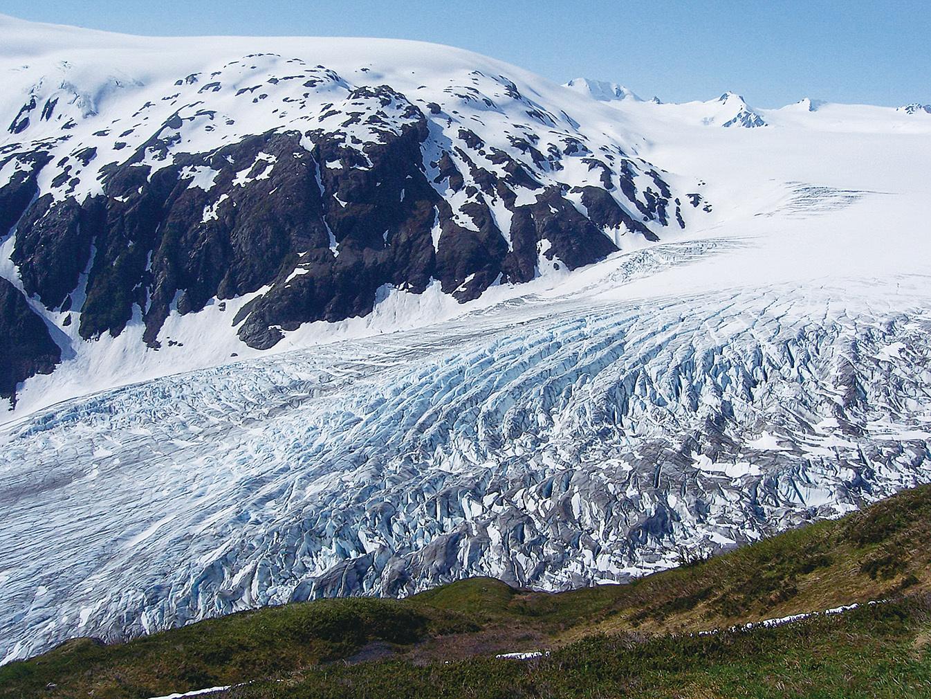 出口冰川(Exit Glacier)。(Justin Morgan/wikipedia)