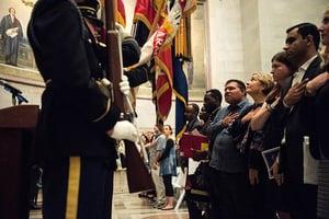美國國家檔案館新移民入籍 紀念憲法日