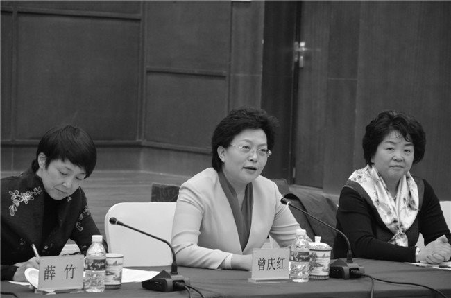 消息透露,中共重慶市委常委、組織部長曾慶紅(中)被調查。(網絡圖片)