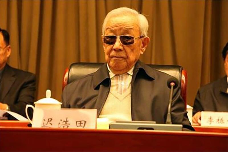 現年88歲的老軍頭遲浩田在中共十九大前突然露面,引外界關注。據悉,遲浩田曾多次打擊江澤民。(網絡圖片)
