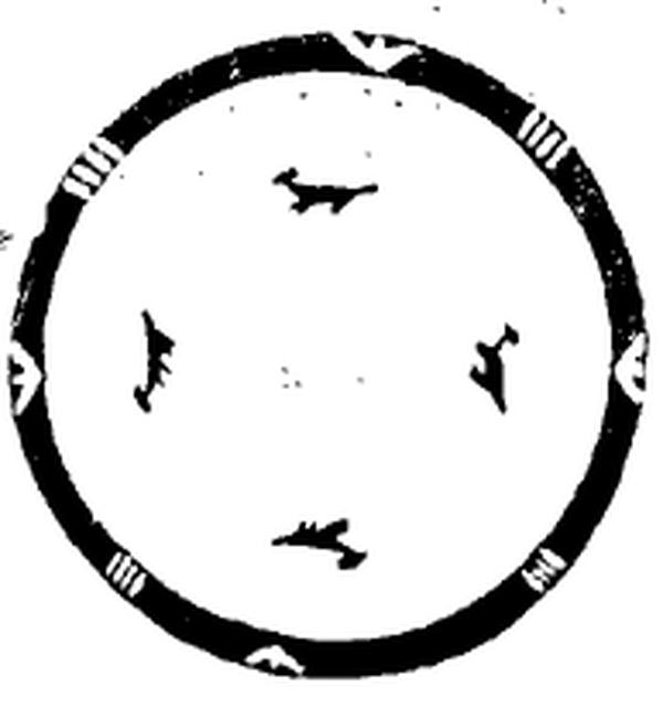 仰紹文化陶盆四象八卦圖案。(網路圖片)