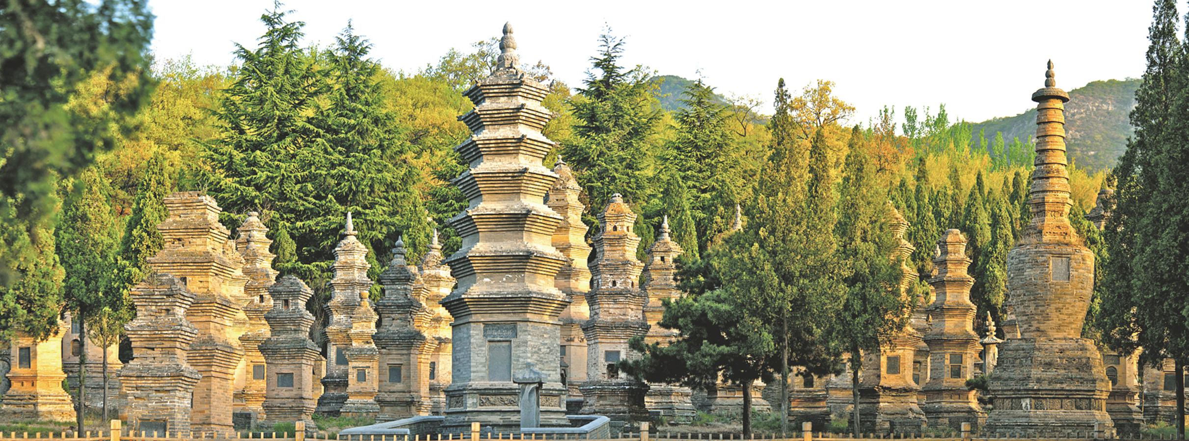 中國河南嵩山少林寺塔林。(大紀元資料室)