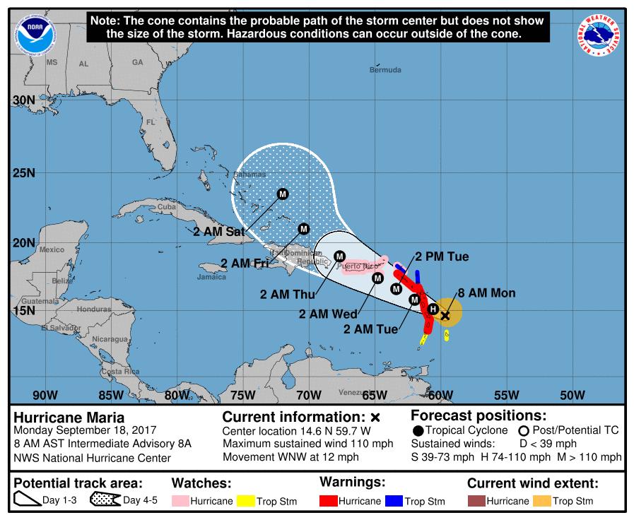 颶風又來了 瑪麗亞逼近加勒比群島