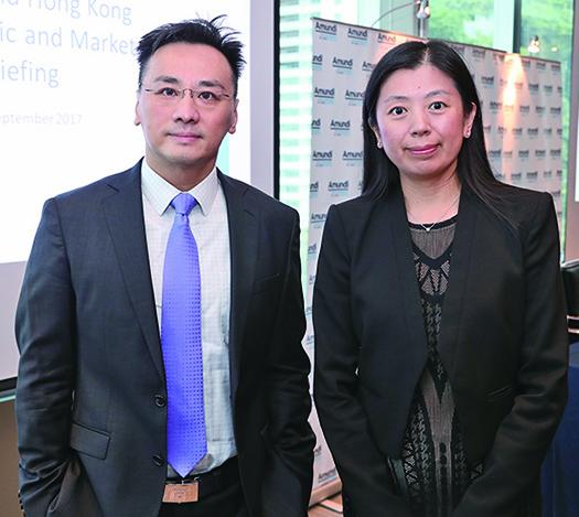 東方匯理資產管理投資部總監梁光域、亞太區首席經濟學家紀沫。(余鋼/大紀元)