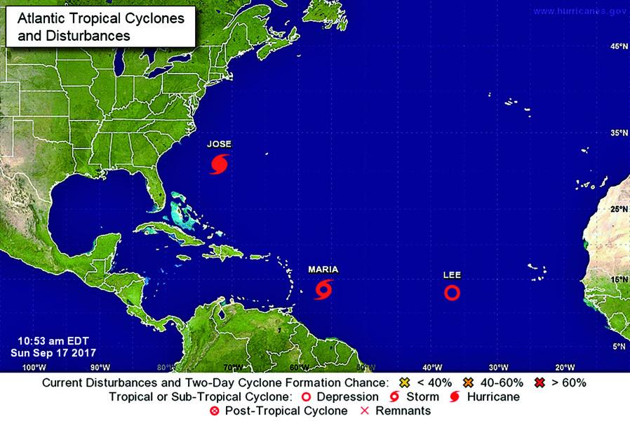 颶風瑪利亞逼近加勒比群島