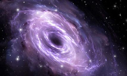 最新證據表明,在我們銀河系的中心,有一個質量相當於太陽10萬倍的黑洞隱藏在分子雲之中。(網絡圖片)