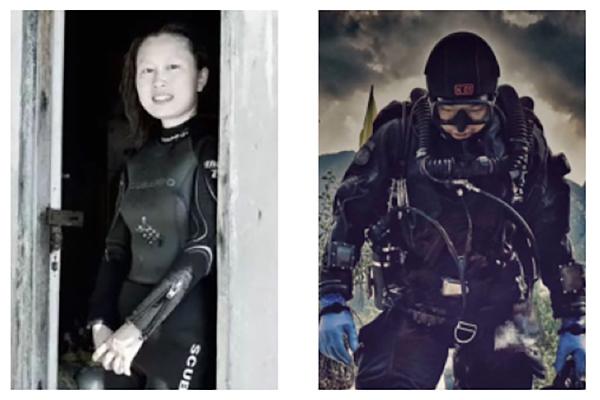 潛水後失蹤的徐海燕和孫昊都是中國資深的潛水員。(網絡合成圖)