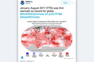 地球在流汗 今年夏天史上第三熱