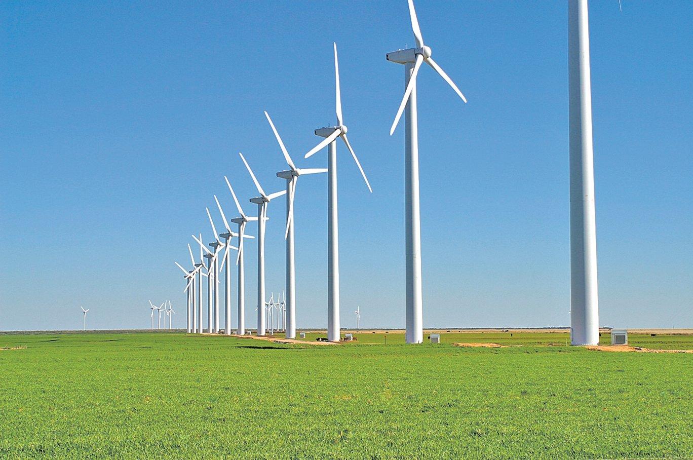 各國都在大力發展風力發電。(維基百科)