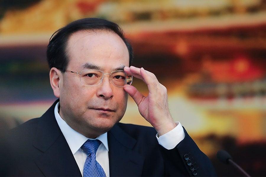 12月11日,中共前重慶市委書記孫政才以涉嫌「受賄罪」被立案偵查。(Lintao Zhang/Getty Images)