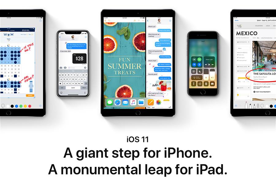 周二,蘋果向iPhone、iPad和iPod發佈最新的iOS 11,其中iPhone兼容於iPhone X、iPhone 8、iPhone 8 Plus、iPhone 7、iPhone 7 Plus、iPhone 6s、iPhone 6s Plus、iPhone 6、iPhone 6 Plus、iPhone SE和iPhone 5s。(apple.com)