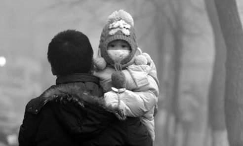 空氣污染能使大陸北方人壽命比南方人減少3年至7年,陰霾還能使兒童五官變形。(網絡圖片)
