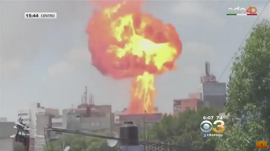 【墨國地震】樓崩地裂 大爆炸騰起蘑菇雲惹驚魂