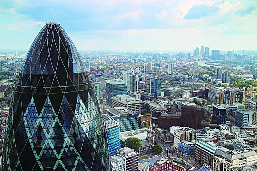 The Gherkin號稱「倫敦最貴的辦公大樓」 。(depositphotos)