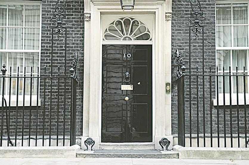 唐寧街10號從1735年開始就是英國首相府的所在地。(Getty Images)