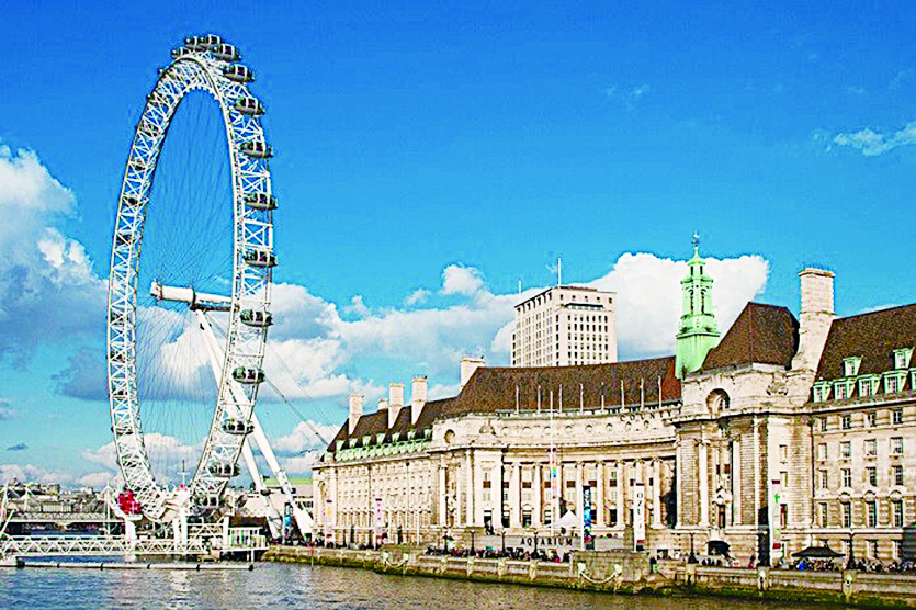 「倫敦眼」是世界上首座、也曾經是世界最大的摩天輪。(depositphotos)