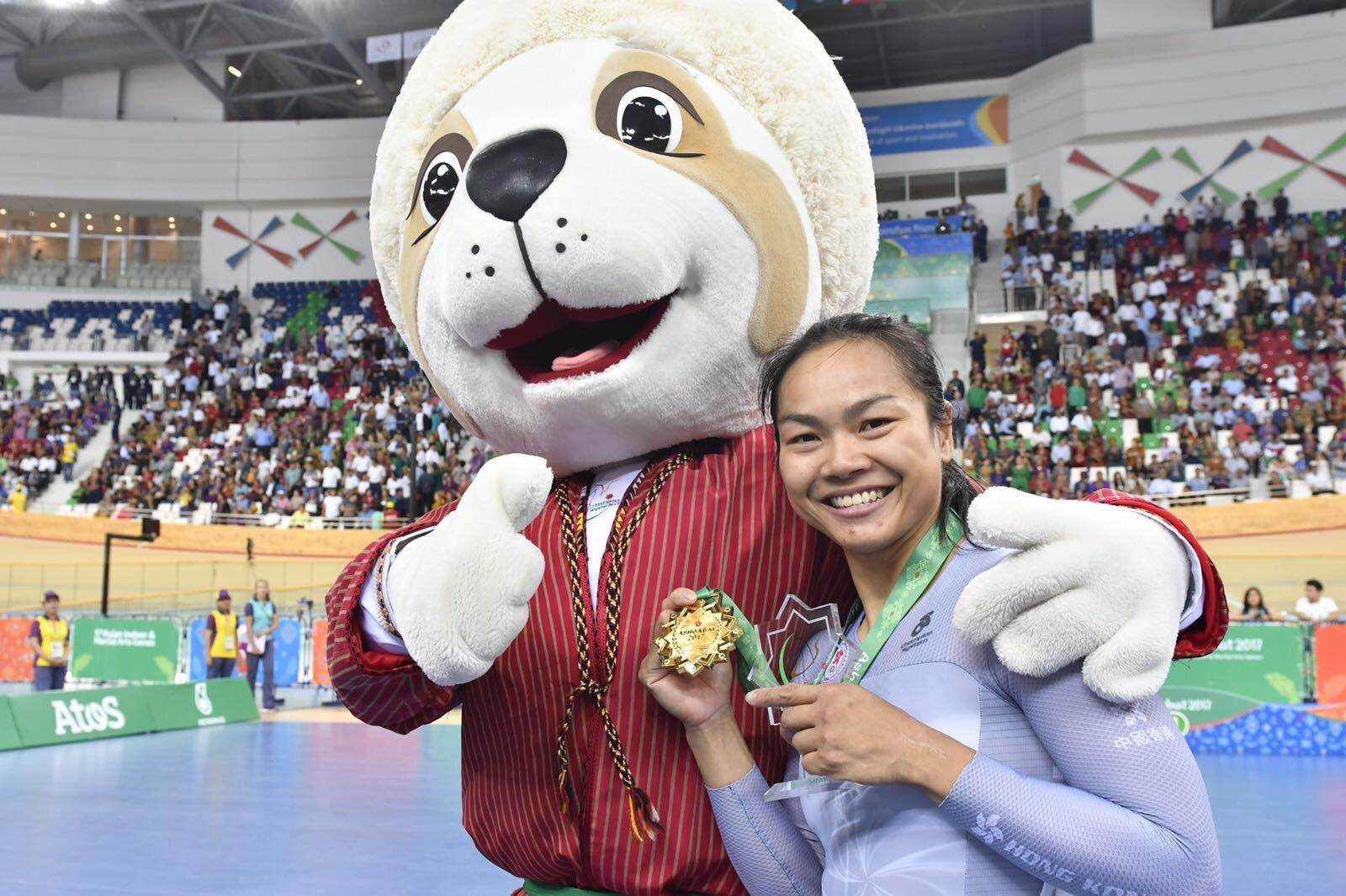李詩慧昨日在亞室運女子爭先賽中摘金。(香港奧委會提供)