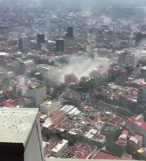聯合航空乘客談墨西哥大地震驚魂一刻