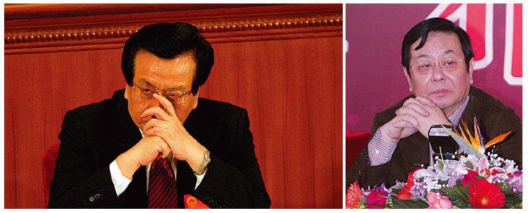 (左)傳江澤民派系第二號人物、中共前國家副主席曾慶紅被軟禁在北京家中。(Getty Images) (右)其弟曾慶淮也被控制。(大紀元資料室)