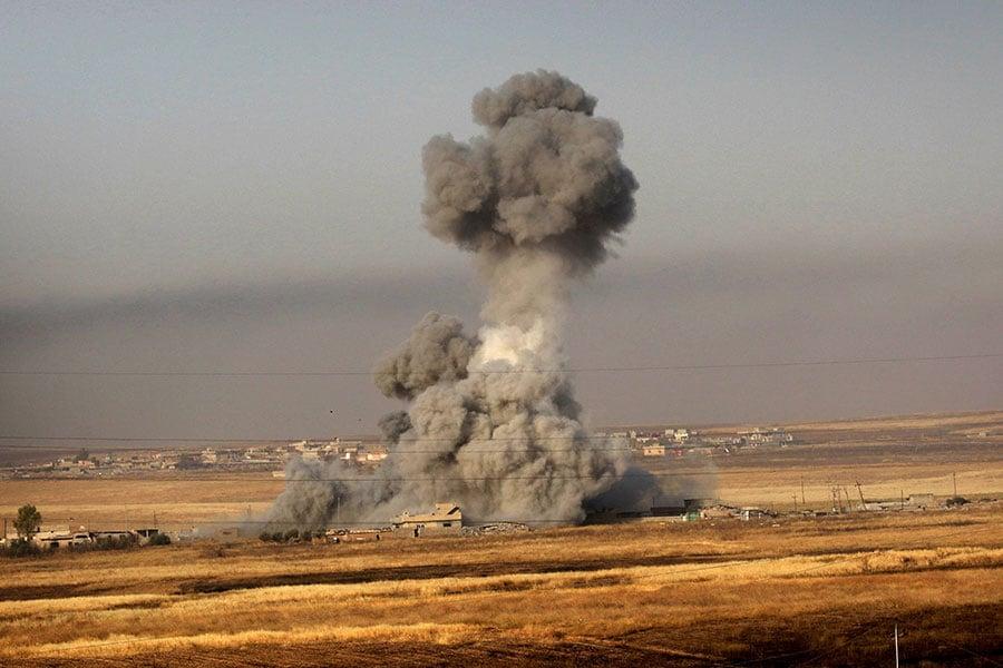 以美國為首的聯軍已經奪取了被ISIS佔據的敘利亞拉卡市(Raqa)七成的土地。(SAFIN HAMED/AFP/Getty Images)