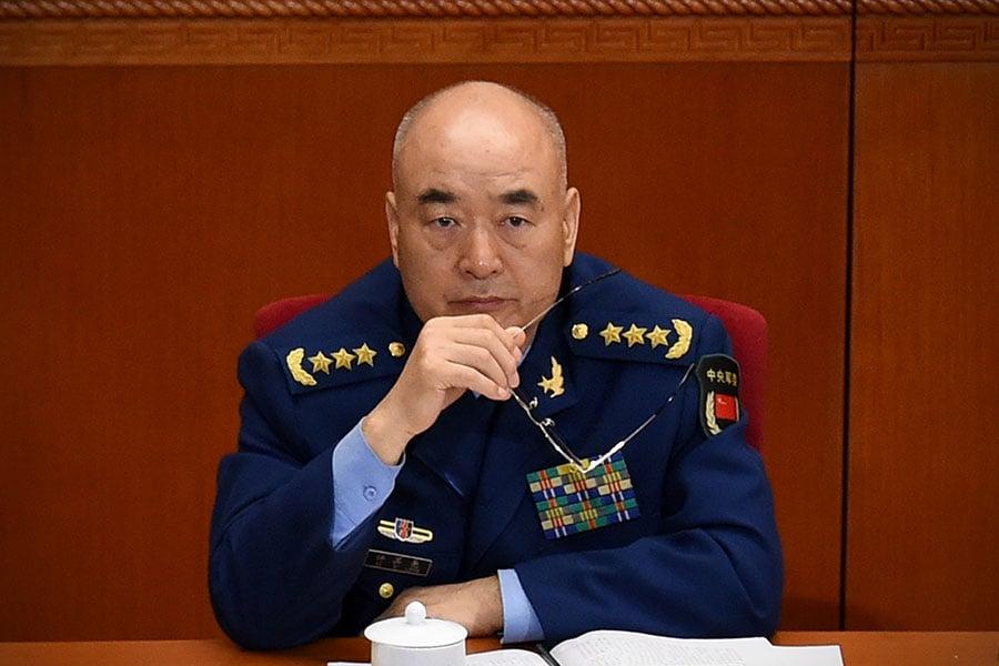 圖為中共中央軍委副主席許其亮。(WANG ZHAO/AFP/Getty Images)