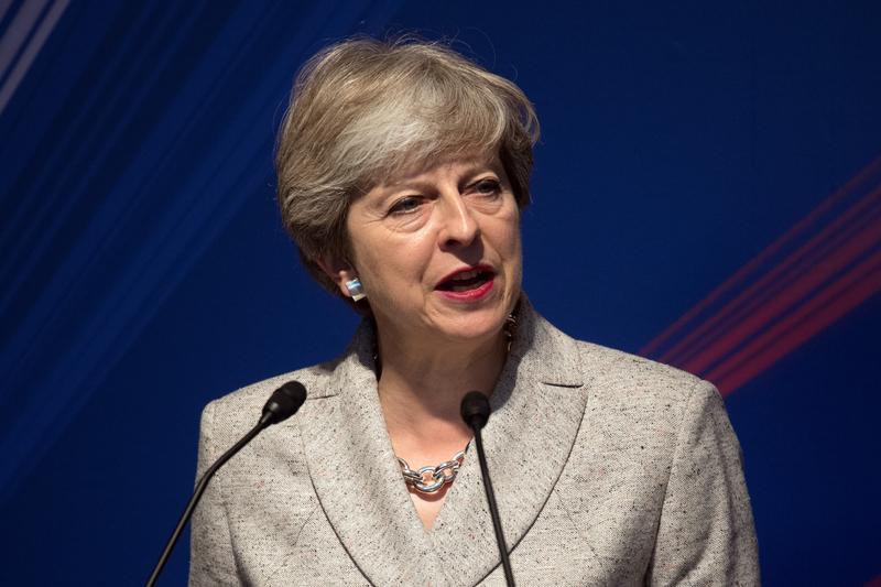 為了打破脫歐談判的僵局,英國首相文翠珊周五(22日)在歐洲歷史名城、意大利佛羅倫斯發表演說,闡述英國脫歐計劃。(Carl Court-Pool/Getty Images)