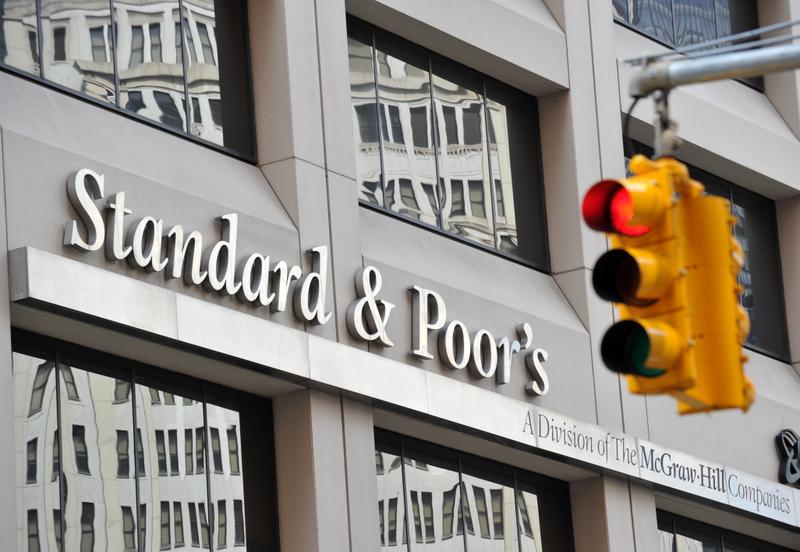 標準普爾將香港長期信用評級從AAA下調至AA+。圖為在紐約的標普公司。(Getty Images)