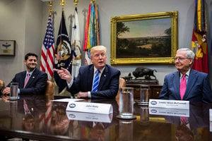特朗普與國會領袖下周三將公佈稅改方案
