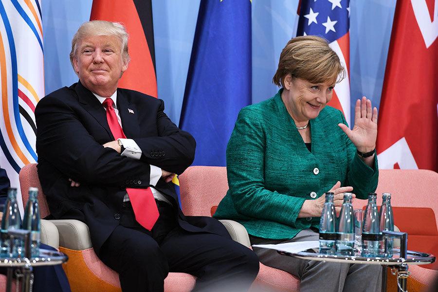 國際議題 默克爾看法與特朗普有分歧
