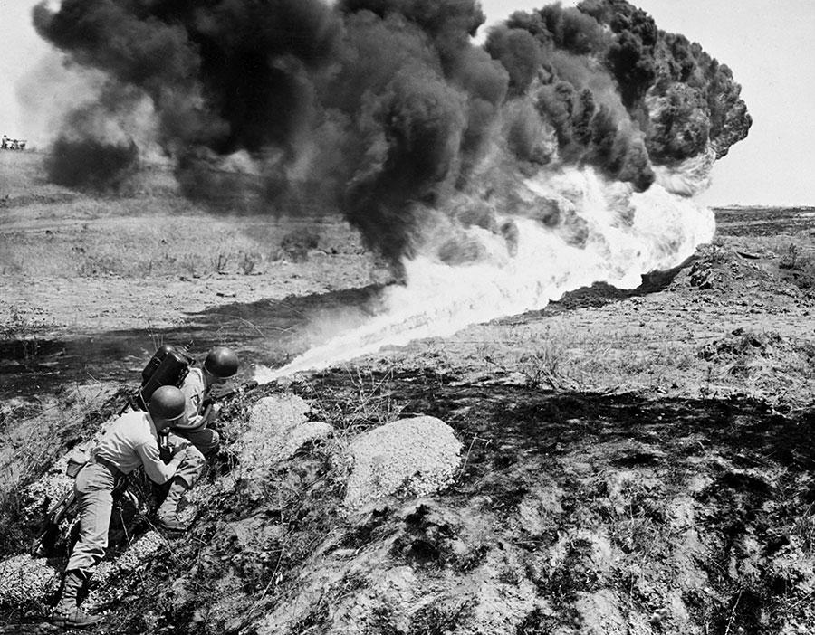 噴火器。(AFP/Getty Images)