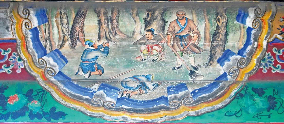 頤和園長廊彩繪:魯智深大鬧野豬林(公有領域)