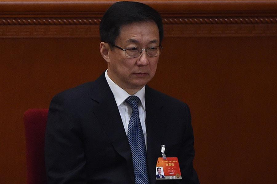 上海消息人士披露,上海市長應勇將接任市委書記。意味著江派韓正將被調離。(WANG ZHAO/AFP/Getty Images)