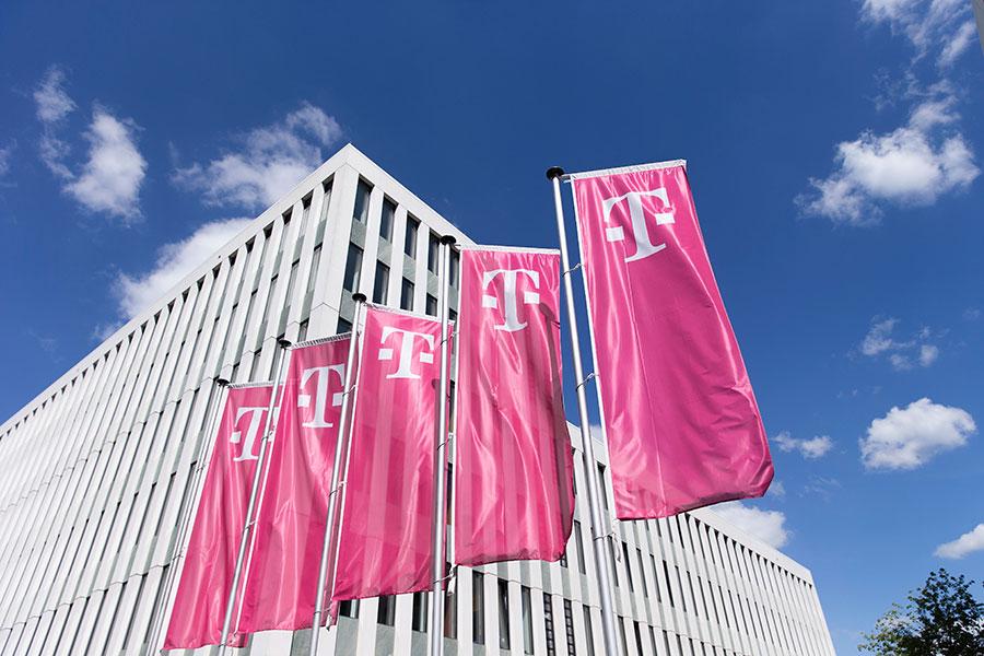 圖為德國最大的電信公司德國電信(Deutsche Telekom)總部。該集團稱自9月初至今,已偵測到來自中國逾30,150次網絡攻擊。(Andreas Rentz/Getty Images)