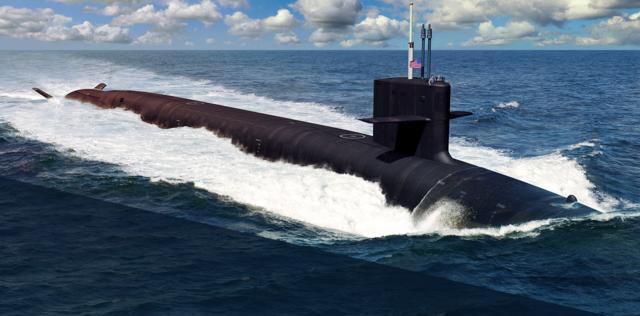 美國軍方宣佈將與英國共同研製新一代「哥倫比亞級」(Columbia-class submarine)核動力潛艇,日前雙方簽署合約,預計將於2021年動工建造。(維基百科)