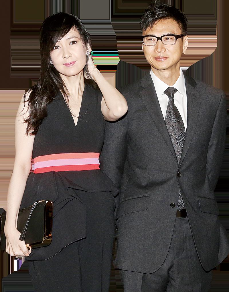周慧敏透露老公倪震(右)今次不會上舞台,會在觀眾席支持她。(資料圖片)