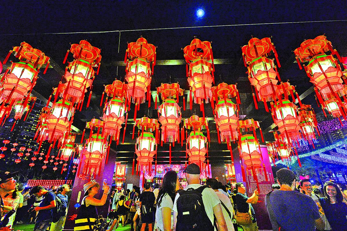 去年維園中秋綵燈會。(大紀元資料圖片)