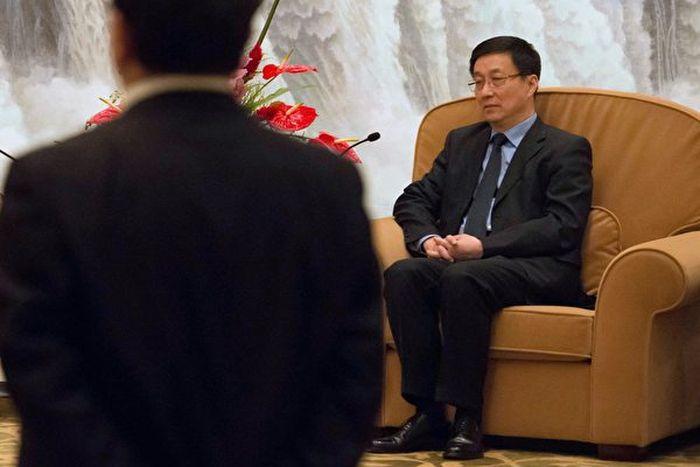 韓正不管接下來會去哪裏,「上海書記」或許是他所能達到的仕途頂峰了。(BERTRAND LANGLOIS/AFP/Getty Images)