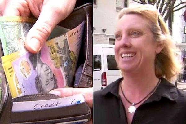 4個月前,來自墨爾本的古多(Kerrie Goodall)不小心弄丟裝有1000澳元現金的錢包。(大紀元合成圖)